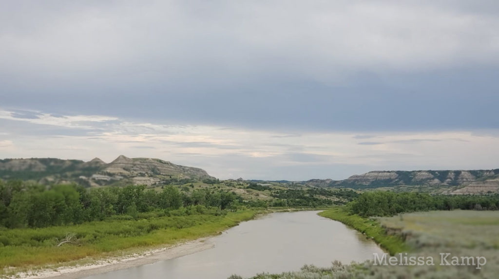 Serene Little Missouri River at Theodore Roosevelt National Park, North Unit. Photo by Melissa Kamp