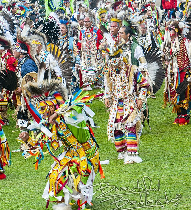 Little Shell Powwow a colorful Grand Entry full of Military Honor