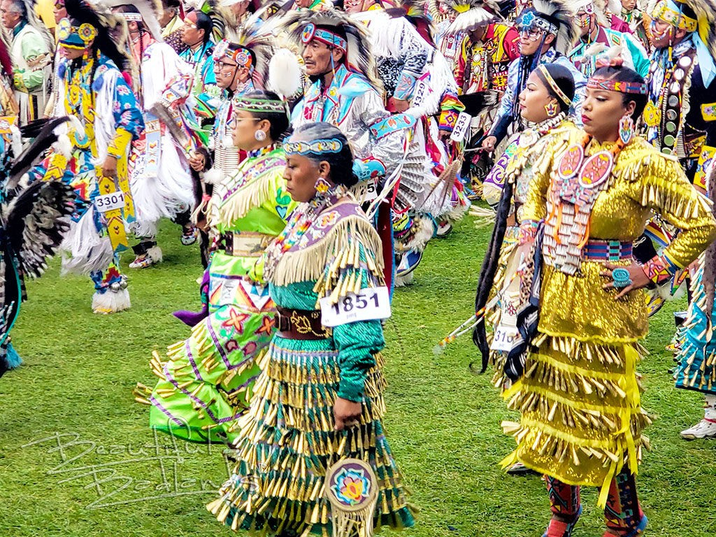 Women's jingle dance powwow