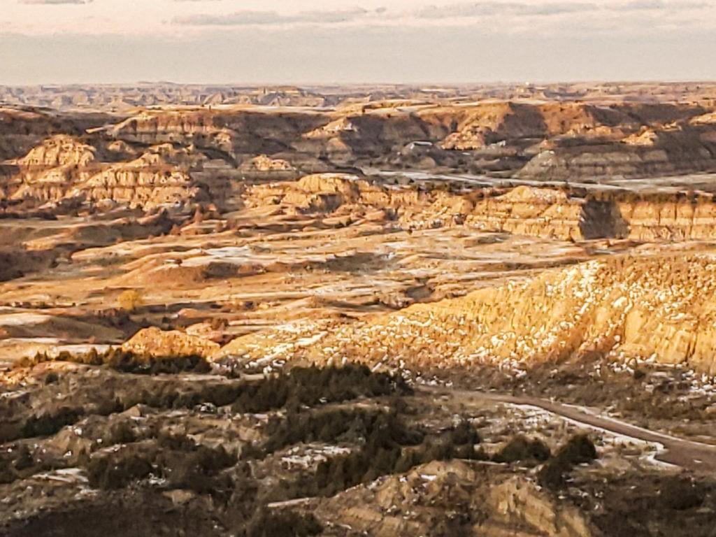 golden hour valley badlands