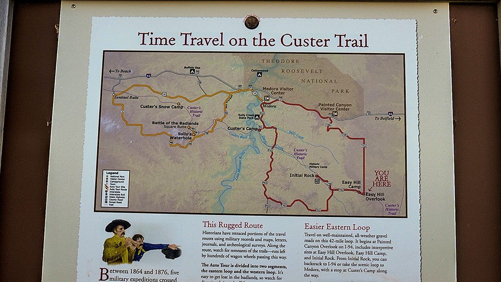 Custer Trail Initial Rock auto tour