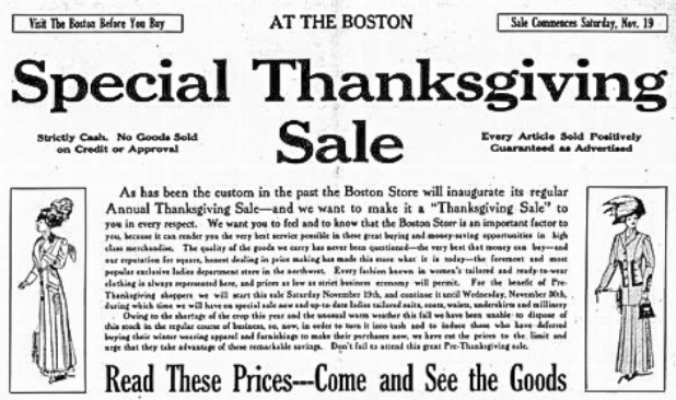 These Historic Thanksgiving Sales Will Surprise You!
