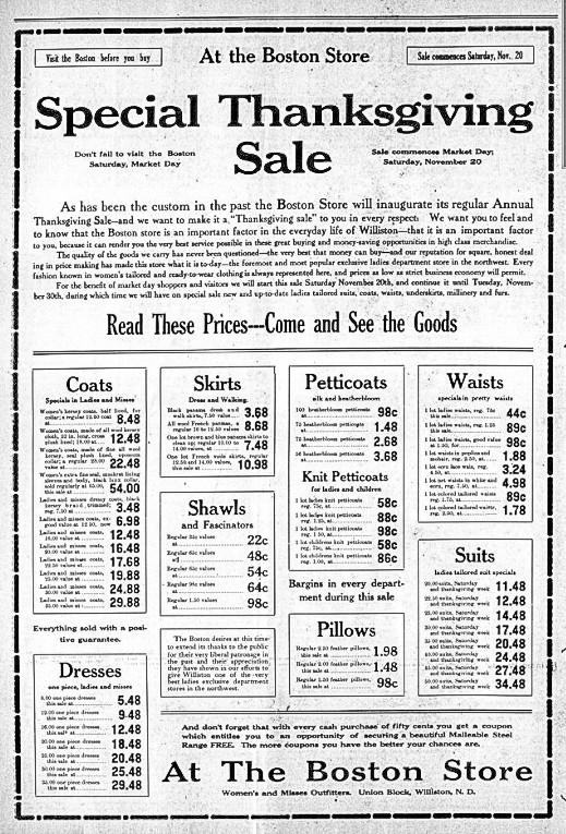 Williston Graphic, November 18, 1909