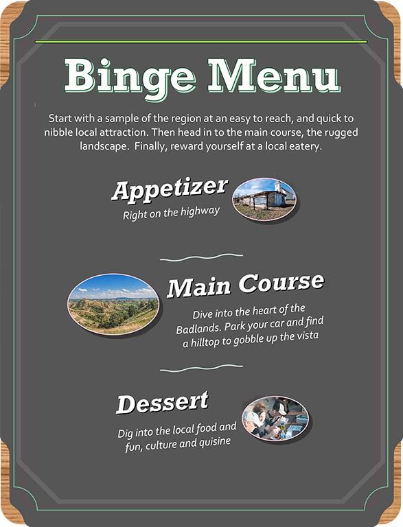 binge menu